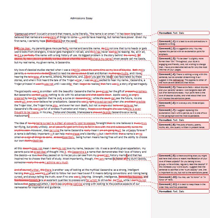 Admission essay editing service mba